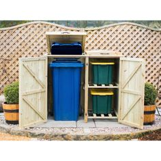 Garden Village Storage for 1 Bin and 2 Recycle Boxes – Next Day Delivery Garden Village Storage for 1 Bin and 2 Recycle Boxes
