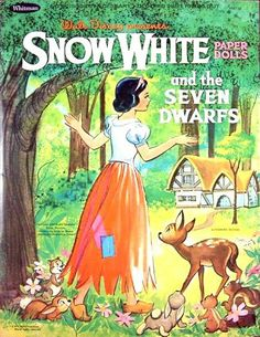 Snow White and the Seven Dwarfs Paper Doll book by Whitman.