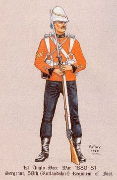 British; 58th(Rutlandshire) Regiment,of Foot, Sergeant, 1st Boer War 1880-81.