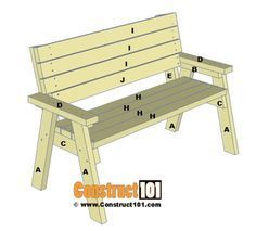 2x4 bench plans, step 7. #woodworkingplans