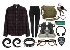 """""""Justified homicide"""" by punk-rock-chick ❤ liked on Polyvore featuring Converse and GAS Jeans"""