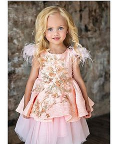 Honey Day Dreamer Light Pink Girls Cotton Dress Sizes 4-8 NWT Mable