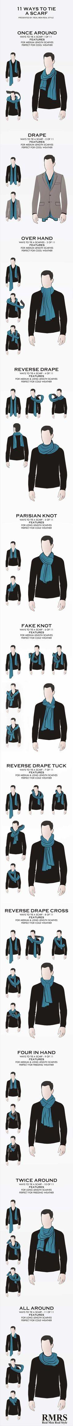 Eleven ways to tie a scarf.