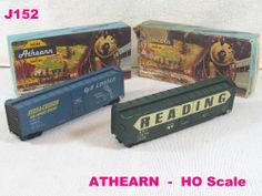 VINTAGE ATHEARN LOT SET MODEL TRAINS HO SCALE READING BOX CAR EELX RAILROAD COOL #Athearn!!!!!  ON AUCTION THIS WEEK!!!!!!