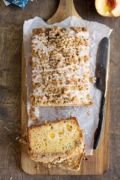 Peach Cobbler Loaf Cake Recipe