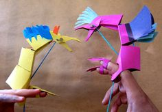 Beautiful paper dragon puppet by BraveFacePaper
