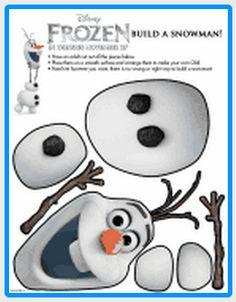 Disney FROZEN free printable, free Olaf printable