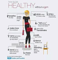 How To Be Healthy Without a Gym If you are busy in your startup Illustrated by Anastasia Borko Healthy Habits, Healthy Tips, How To Stay Healthy, Keeping Healthy, Health And Wellness, Health Fitness, Health Care, Gym Fitness, Face Yoga