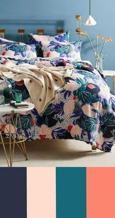 ANTHROPOLOGIE Cassie Byrnes Melbourne Quilt #homedecor #interior #design #teal #eggplant #purple #blush #coral #cream #decorate #decor #ideas #white #apartment #modern #rustic #country #bedroom #cozy #styles #farmhouse #unique #luxury #living room #lush #anthropologie #forsmallspaces #contemporary #college #dorm #affiliate