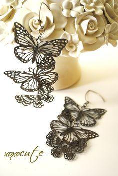 SHABBY CHIc BUTTERFLIES  teen jewelry  sweet 16  by xoxocute, $19.00