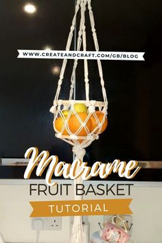 We love this macrame fruit basket tutorial, because not only does it provide an optimal way to keep your fruit stored safely (plenty of air can circulate!) but the hanging design means it saves you tabletop space, too! Check it out on the Create and Craft blog! Macrame Wall Hanging Diy, Macrame Plant Hangers, Juice Bar Interior, Hanging Fruit Baskets, Fruit Holder, Macrame Projects, Macrame Tutorial, Create And Craft, Sambhar Recipe