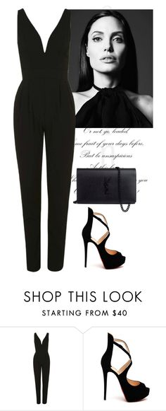 """u r so dark baby and i want u so hard"" by guadalupebellorin ❤ liked on Polyvore featuring Topshop, Christian Louboutin, Yves Saint Laurent, black and Dark"
