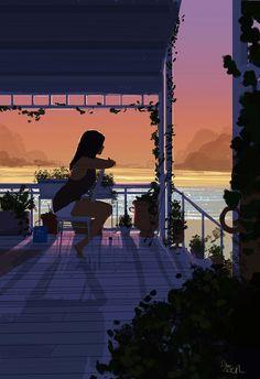 The Art Of Animation — Pascal Campion -. Art Black Love, Black Girl Art, Art Girl, Pascal Campion, Aesthetic Art, Aesthetic Anime, Art And Illustration, Cartoon Art, Cute Drawings