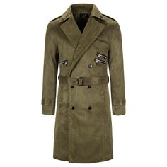 Couple Jacket, Man's Overcoat, Responsive Layout, England Fashion, Long Trench Coat, Green Jacket, British Style, Windbreaker Jacket, Double Breasted