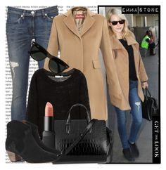 """Celeb Style - Emma Stone"" by karineminzonwilson ❤ liked on Polyvore featuring rag & bone, MaxMara, Kain, Alexander Wang, NARS Cosmetics, Isabel Marant and Ray-Ban"