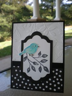 Pretty Bluebird~ by stampin'nana - Cards and Paper Crafts at Splitcoaststampers Bee Cards, Embossed Cards, Stamping Up Cards, Pretty Cards, Card Sketches, Paper Cards, Flower Cards, Creative Cards, Greeting Cards Handmade