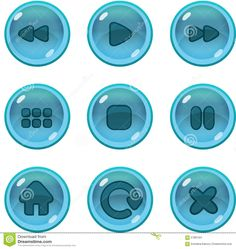 Game UI Icons Gui Stock Vector - Image: 57881551