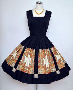 Vintage Cotton Summer Dress by VintageDevotion Vintage Outfits, Vintage Dresses 50s, Vestidos Vintage, African Inspired Fashion, African Print Fashion, Fashion Prints, Fashion Design, Fashion Moda, 1950s Fashion