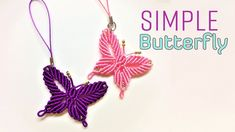 Macrame tutorial - how to make a Simple butterfly keychain - Hướng dẫn t...