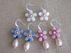 Beading Earrings Tutorial Beaded Pattern Violet от poetryinbeads