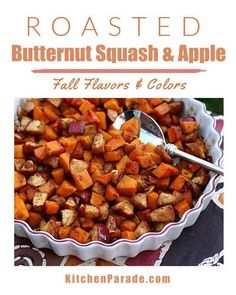 Roasted Butternut Squash Healthy Casserole Recipes, Tasty Vegetarian Recipes, Real Food Recipes, Roasted Vegetables, Veggies, Roasted Butternut Squash, Thanksgiving Recipes, Winter Recipes, Buffets