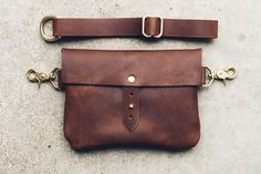 classic button stud hip bag + satchel - brown – Hustle & Hide Co Leather Accessories, Leather Jewelry, Leather Purses, Leather Bags, Diy Coin Purse, Dog Treat Bag, Waist Purse, Hip Bag, Leather Projects