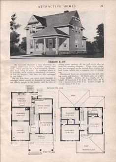 Design K 509 - from Attractive homes by Max L. Keith, Published 1912 192 p. ; ill., plans ; 26 cm. ; trade catalog