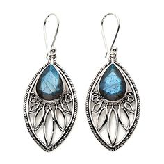 Himalayan Gems™ Marquise-Shaped Labradorite Earrings. HSN item: 232-047