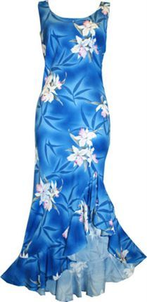 TP 910R [Midnight Orchid/Blue] Mid-Length Dress product photo -- nice dress to wear for ho`ike
