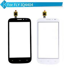 Czarny Biały Dla FLY IQ4404 szklany Ekran Dotykowy Digitizer z flex cable
