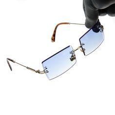 Cartier Glasses Men, Mens Glasses, Rectangle Sunglasses, Gold Sunglasses, Sunnies, Retro, Eyeglasses For Women, Frame, Hip Hop