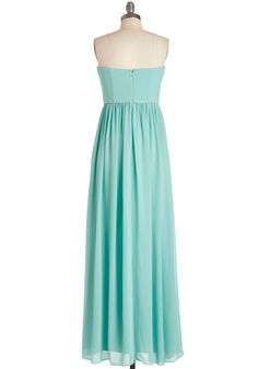 Princess Charming Dress. You reign over the evening looking ravishing in the the aqua flow of this floor-length dress. #mint #prom #wedding #bridesmaid #modcloth