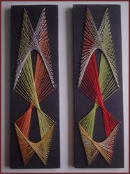 "String paintings...some of the first art I sold in the ""70's!"