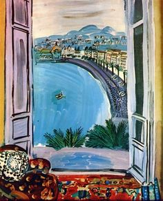 raoul dufy - I love the idea of painting what you see through a window. Gives the picture ready-made depth.