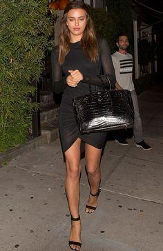 Look da modelo Irina Shayk com look todo preto. Bradley Cooper, Fashion Models, Fashion Outfits, Womens Fashion, Teen Fashion, Casual Outfits, Irina Shayk Style, Estilo Street, Gigi Hadid Outfits