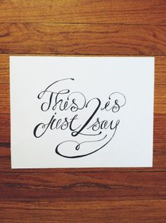 Beautiful Trend Alert: Hand Lettering Amazing Pictures
