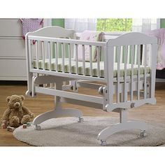 Prepare your little one for a restful night's sleep in the Sorelle Berkley Cradle in White. The cradle is made of pine with smooth, hand-rubbed surfaces and corners . Wood Bassinet, Baby Bassinet, E Books, Nursery Furniture, Kids Furniture, Xbox 360, Cradles And Bassinets, Wooden Cradle, Portable Bed