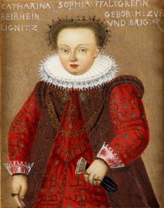 Portrait of Catherine Sophia of Liegnitz-Brieg (Legnica-Brzeg) (1561-1608), Countess of Palatine of Zweibrücken from 1587 by Anonymous, ca. 1595 (PD-art/old), Royal Collection Trust