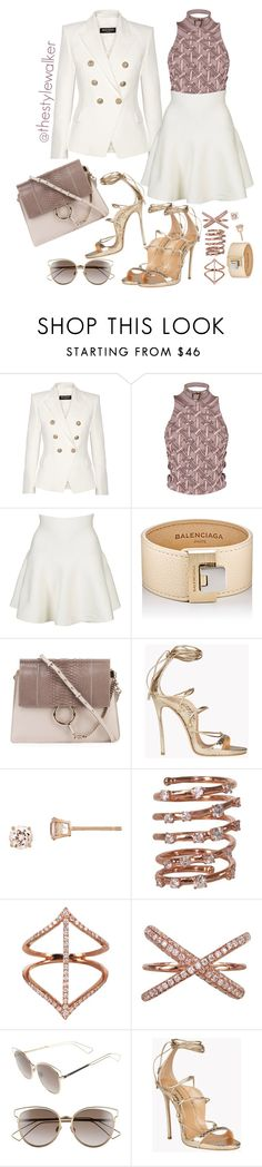 """Untitled #804"" by thestylewalker ❤ liked on Polyvore featuring Balmain, Marina Hoermanseder, Topshop, Balenciaga, Chloé, Dsquared2, Plukka and Christian Dior"