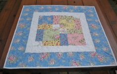 Quilted Table Topper Table Topper Shabby by SharleesQuiltCottage