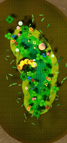 Golf Course art 1 from the official artwork set for #MarioGolf World Tour on the #Nintendo3DS. More info on #Mario 3DS games @ http://www.superluigibros.com/3ds-games