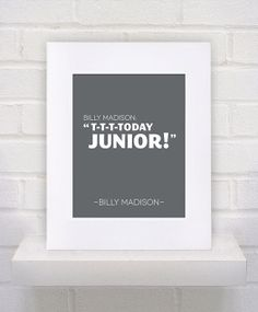Items similar to Billy Madison Quote - - poster print on Etsy Golf Quotes, Tv Quotes, Family Quotes, Best Quotes, Billy Madison Quotes, Caddyshack Quotes, Silly Me, Favorite Movie Quotes, Golf Humor
