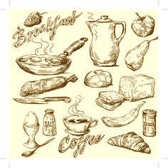 vintage food drawing - Google Search