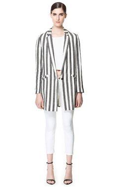 Blasier Cuadros Lazo Blazers mujer nueva Colección | Zara España from Zara on 21 Buttons