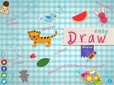 New app for kids! Easy Draw for iPad - 'Teaches kids how to draw cartoons, animals, birds, fruits, nature, etc., More than 110 drawings to practice.'