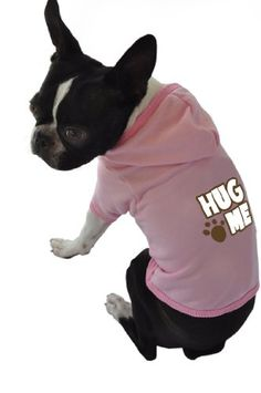 Ruff Ruff and Meow Dog Hoodie Hug Me Pink ExtraSmall -- Check out the image by visiting the link.