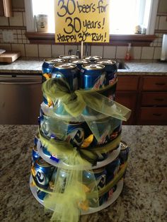 Beer cake- instead of birthday could do years for retirement