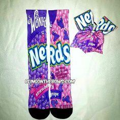 35.00$  Buy here - http://vigjs.justgood.pw/vig/item.php?t=0kozg0558613 - NERDS socks and bow set