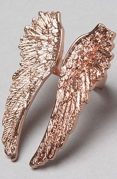 The Angel Wings Ring in Rose Gold by Wildfox