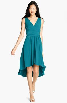 Ivy & Blu Pleated Front V-Neck Dress available at #Nordstrom